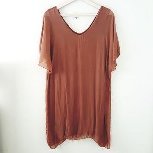 Boutique - Italian Sheer Rust Tunic or Dress